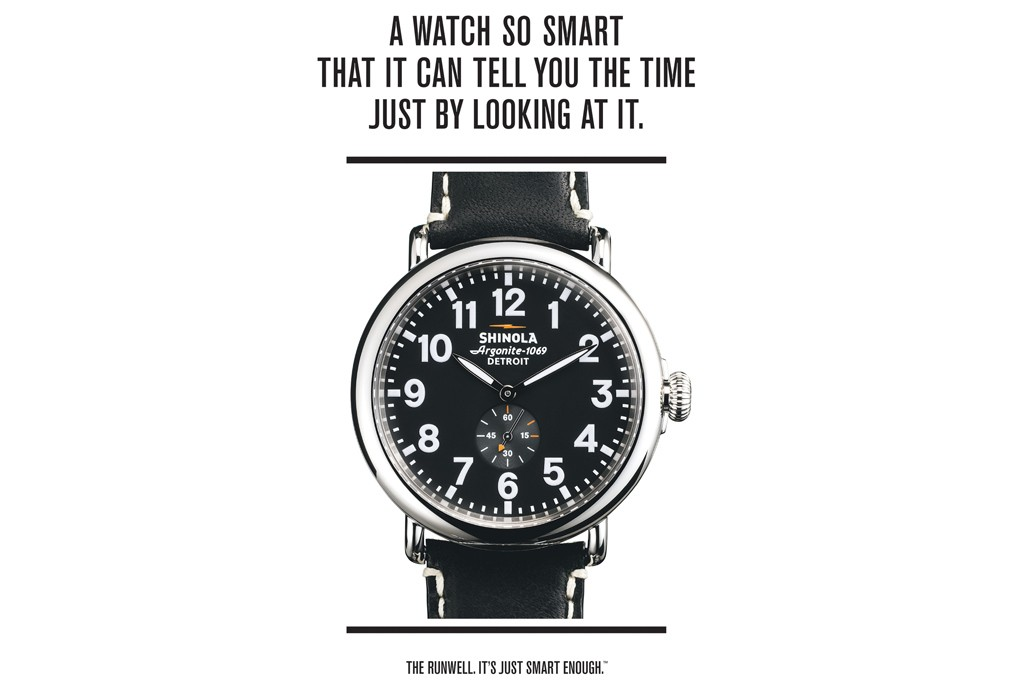 Shinola watch advert