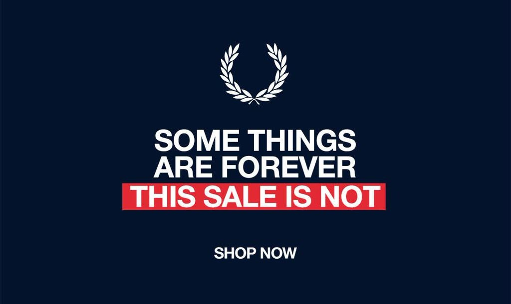 Banner advert from the Fred Perry Website