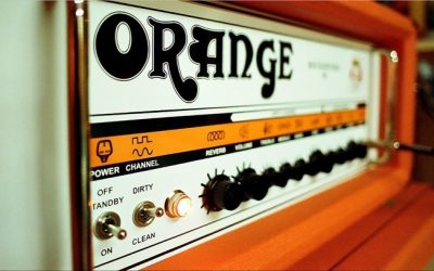 Photo of an Orange guitar amplifier