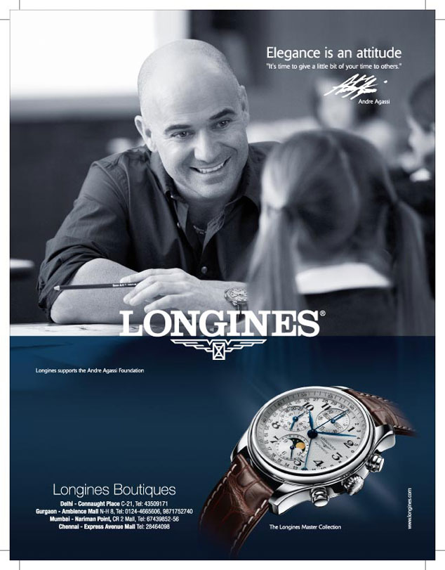 Longines watch advert