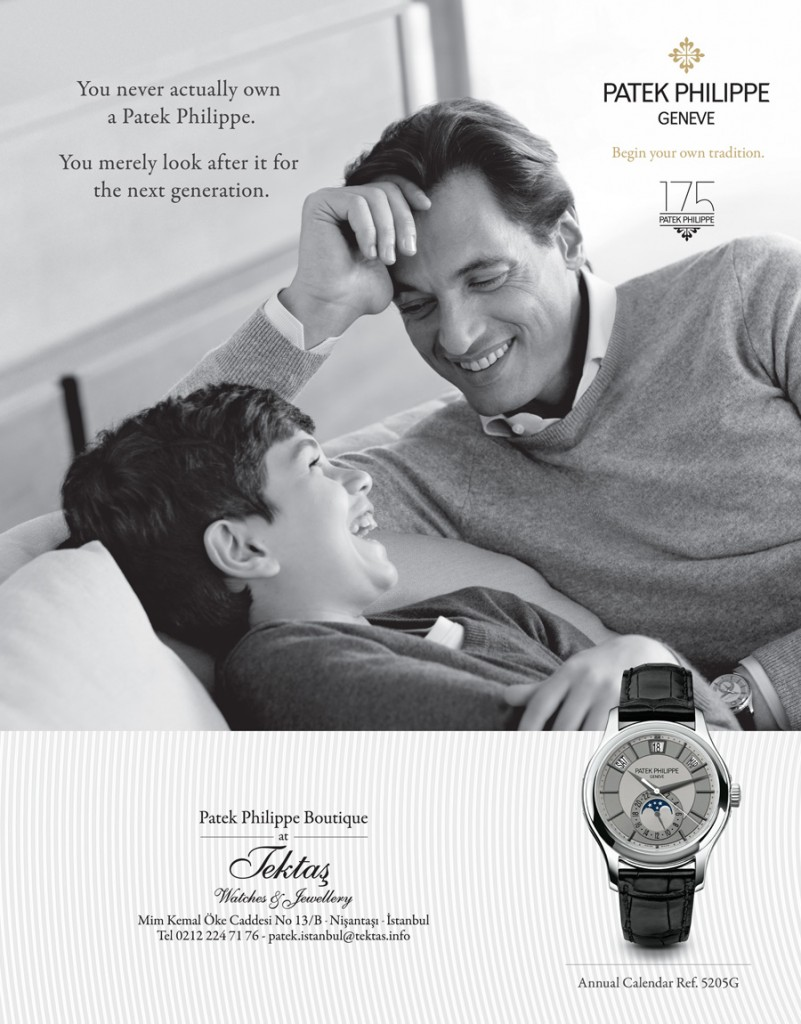 Patek Philippe watch advert