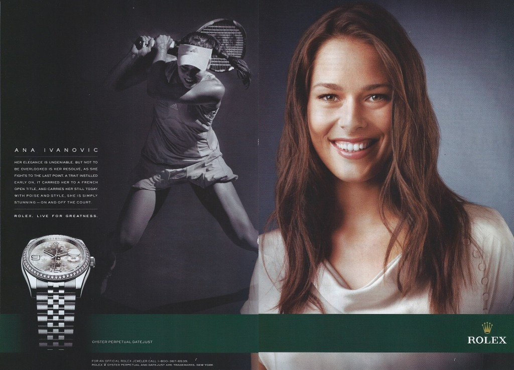 Ivana Ivanovic Rolex advert