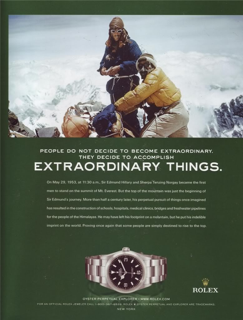 Rolex mountaineering advert