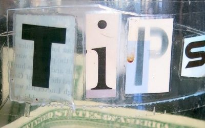 Photo of a tips jar