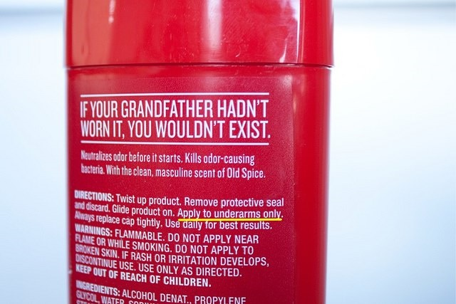 Photo of Old Spice shampoo bottle
