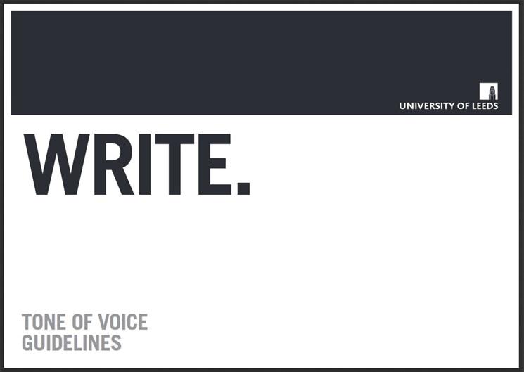 University of Leeds Tone of Voice Guidelines